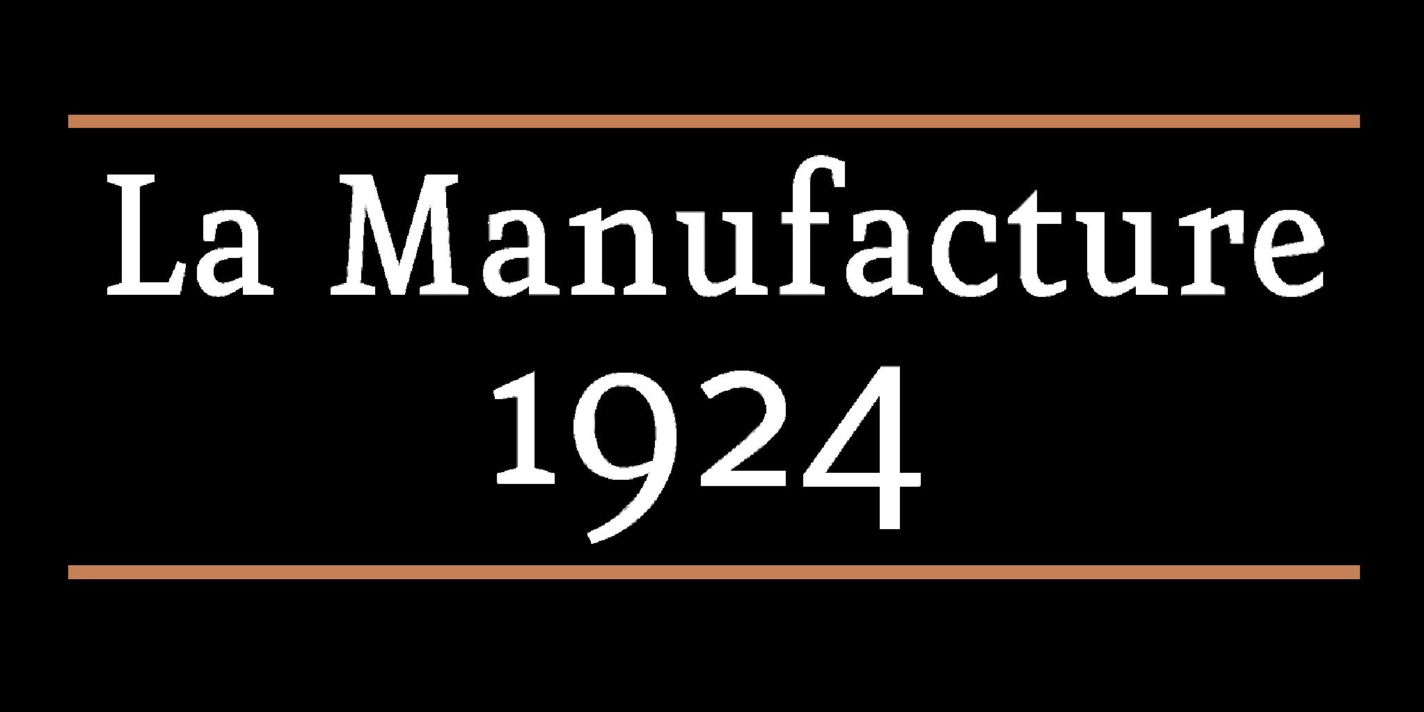 La Manufacture 1924 logo grand transparent blanc